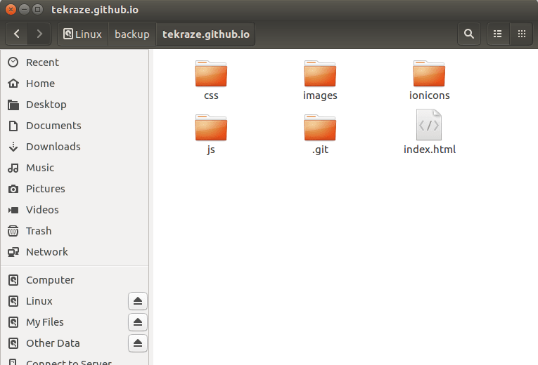 The Hidden .git Repository contained Workspace