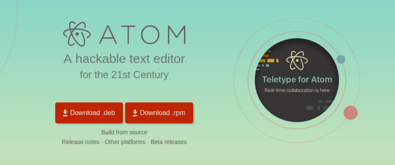 atom 768x322 - Text Editors For Code - 2018
