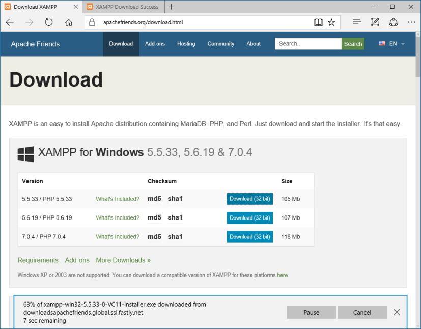 Install PHP XAMPP Tekraze