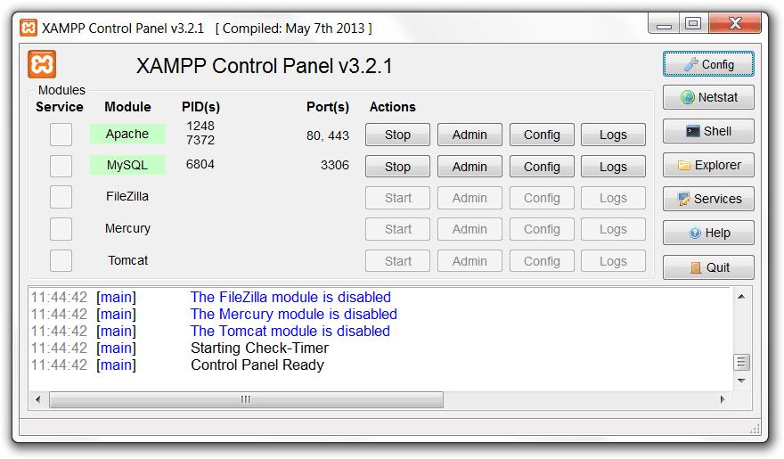 xampp control panel 2015 - xampp_control_panel_2015