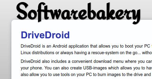 DriveDroid – Boot your PC/Laptop from your android device