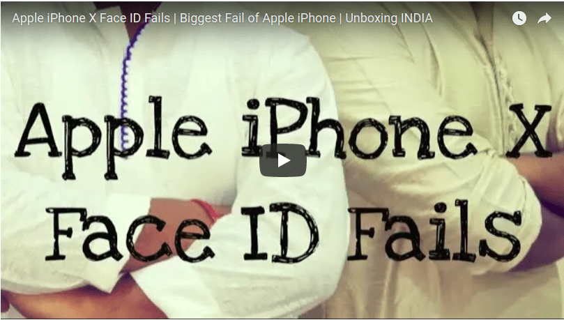 Apple iPhone X Face ID Fails – Video