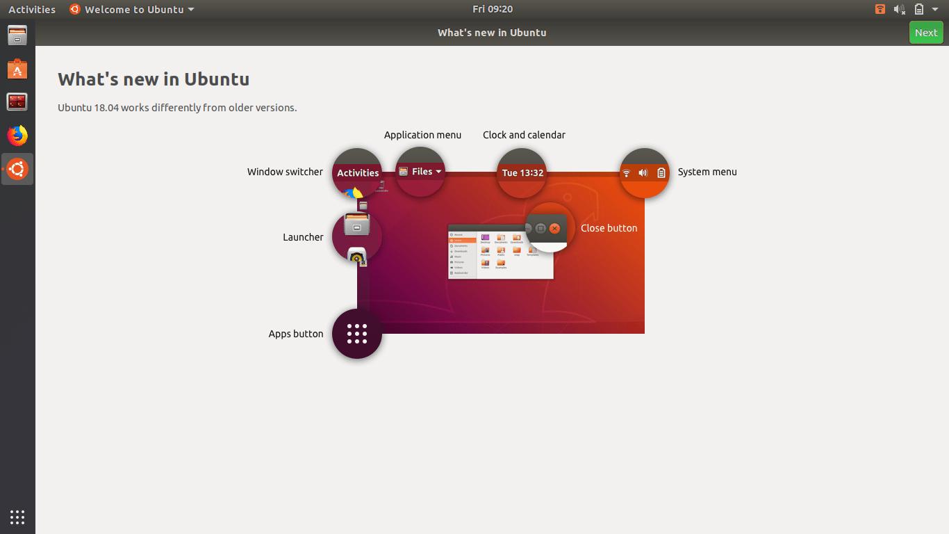 Screenshot from 2018 04 27 09 20 49 - Ubuntu First Time Welcome