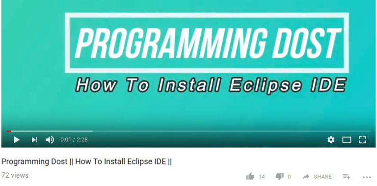 how to install eclipse ide 768x380 - How To install Eclipse IDE - Video