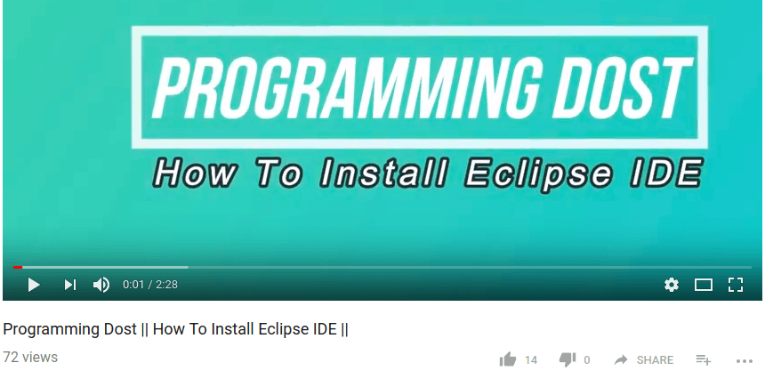 How To install Eclipse IDE – Video