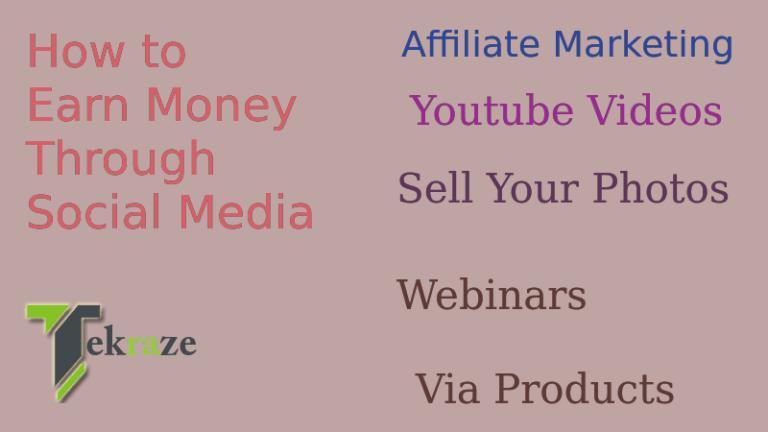 Earn via social media 768x432 - How to Earn Money Through Social Media