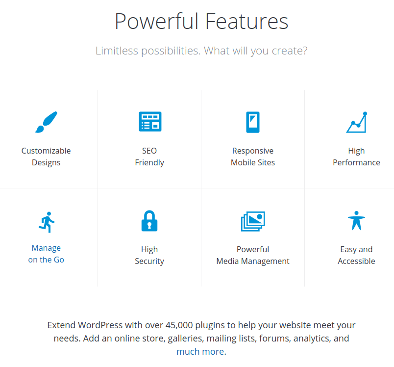 wordpress features - wordpress features