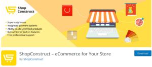 ShopConstruct 300x133 - Build an eCommerce Store in WordPress using plugins easily