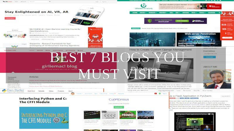 blog 1 - 7 Best Blog You must Visit