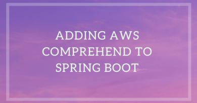 Add Amazon Comprehend to Java