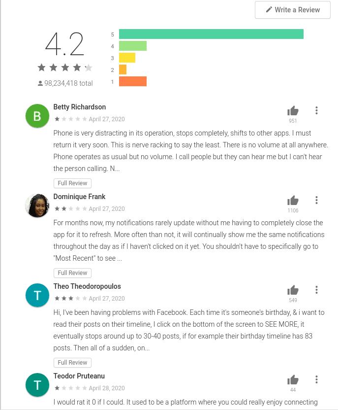 FB App Reviews Tekraze
