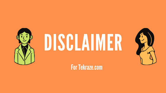 Disclaimer policy Tekraze Banner