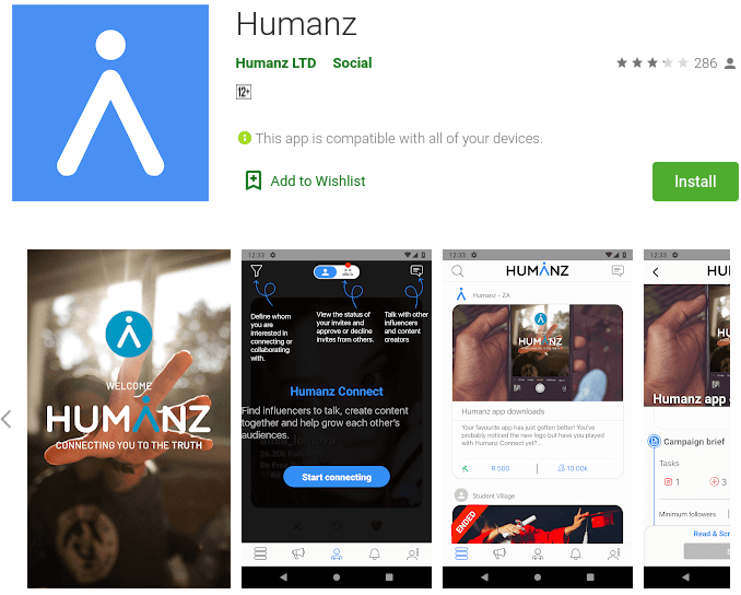 Humanz - Social Media Influencing apps for mobile to try