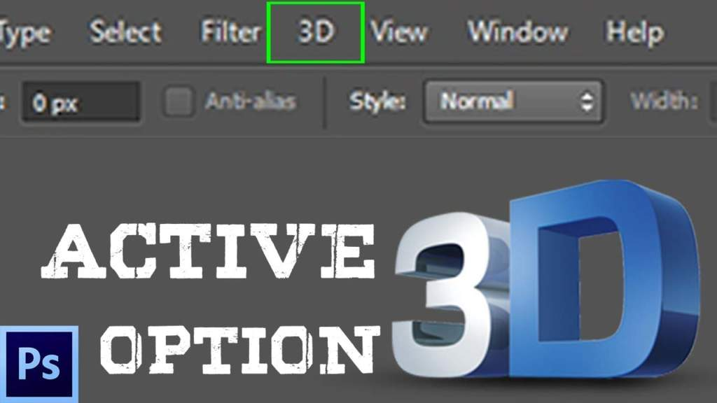 How to add 3D option in Adobe Photoshop CS6?